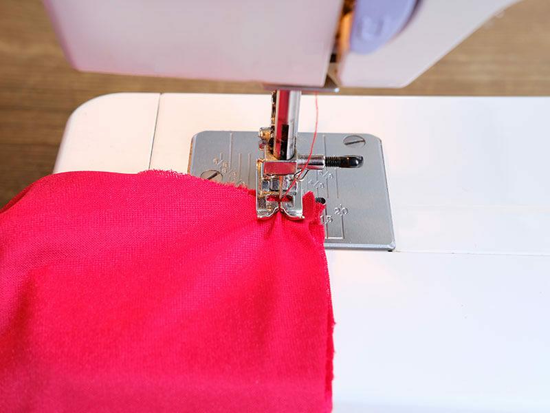 Sewing Machine Red Cloth
